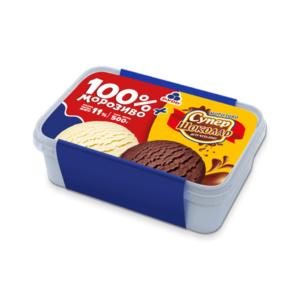 Лоток 100% мороженое + супер шоколад 500г