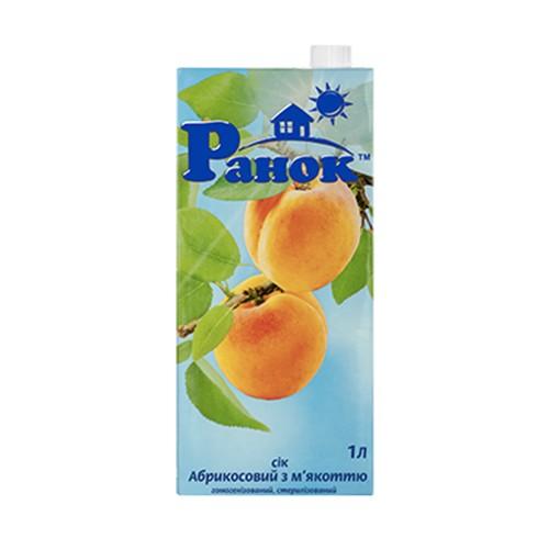 Сок абрикосовый с мякотью 1л