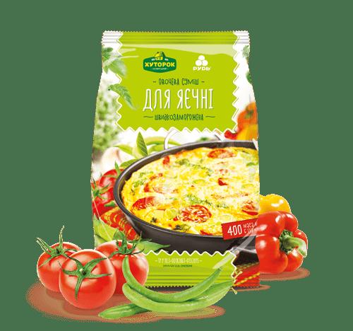 """Овощи для яичницы ТМ""""Хуторок"""" 400г"""