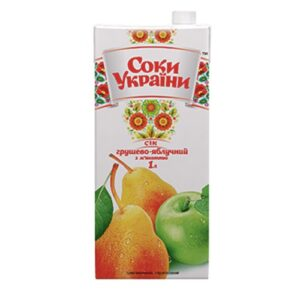 Сок грушево-яблочный 1л
