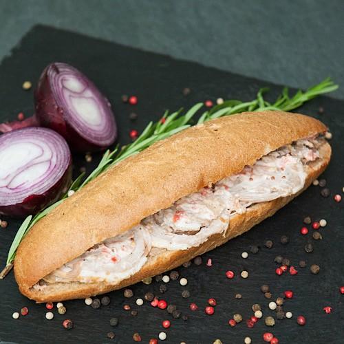 """Сендвич салями шинка 140г ТМ """"Полюс Изобилия"""""""
