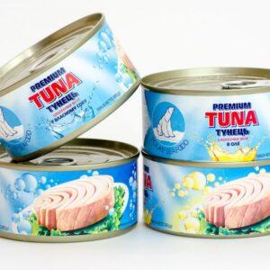 Консерва тунца в подсолнечном масле 185г