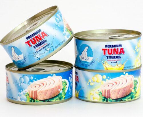 Консерва тунца в подсолнечном масле ж/б ТМ Polar SeaFood Ukraine 185г