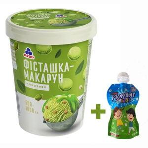"""Мороженое """"Фисташка-Макарун"""" в ведре ТМ """"Рудь"""" 500г + мороженое в формате Дой-пак в подарок!"""