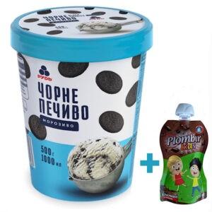 """Мороженое """"Черное печенье"""" в ведре ТМ """"Рудь"""" 500г"""
