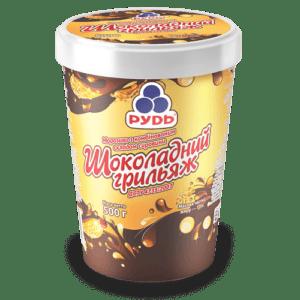 """Мороженое в ведре """"Шоколадный Грильяж"""" ТМ Рудь 500г"""