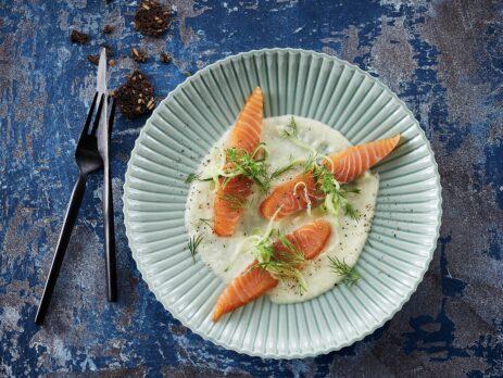 Французский крем-суп с Лососем и сливками