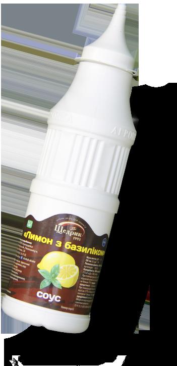 Соус «Лимон с базиликом» ТМ Щедрик 500г