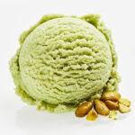 Single Scoop of Green Pistachio Ice Cream